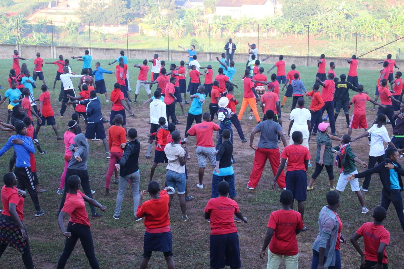 Students doing sports