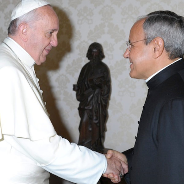 Carron with pope francis 3